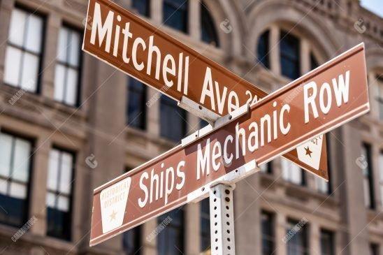 Street Signs Galveston Texas