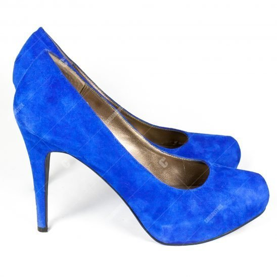 Pair of Blue Swade Shoes Side